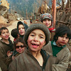 Kashmiri kids, wrapped up against the winter cold