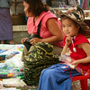 Selling hats in Keng Tung, Burma