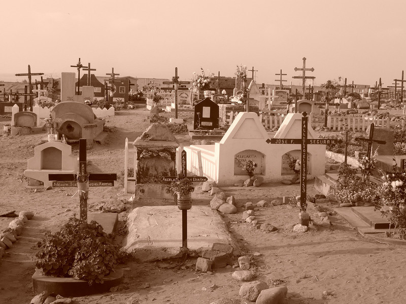 Photo courtesy of Erin. A graveyard in Huanchaco.