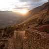 An Inca wall in the Sacred Valley, high in the Andes