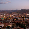 Cusco at dusk, 11,000 feet up in the Andes