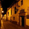 A Cusco alley at night
