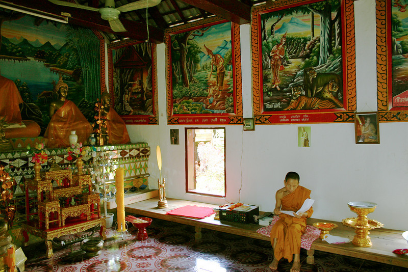 A monastery in a northern Thailand village