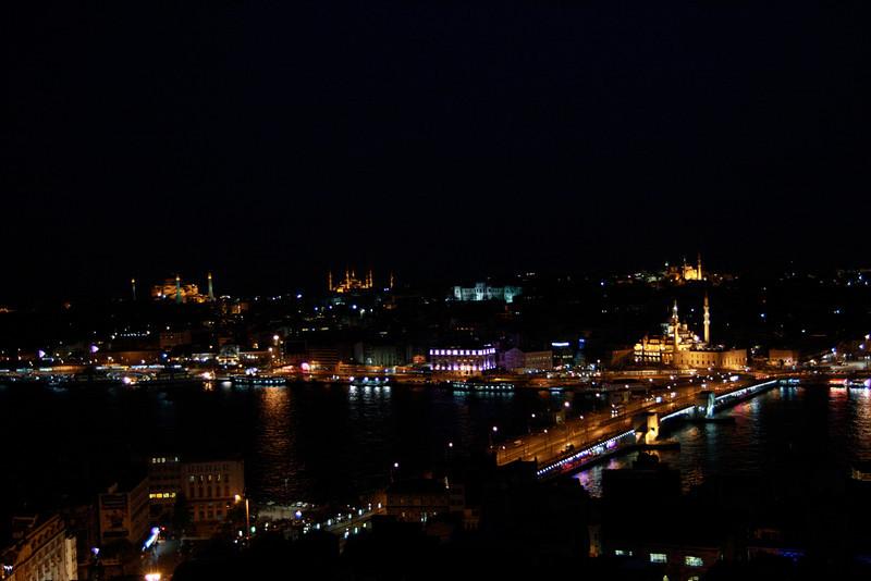 Sultanahmet skyline at night, Istanbul