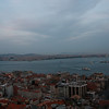 Looking across the Bosphorus straight from Europe to Asia, in Istanbul