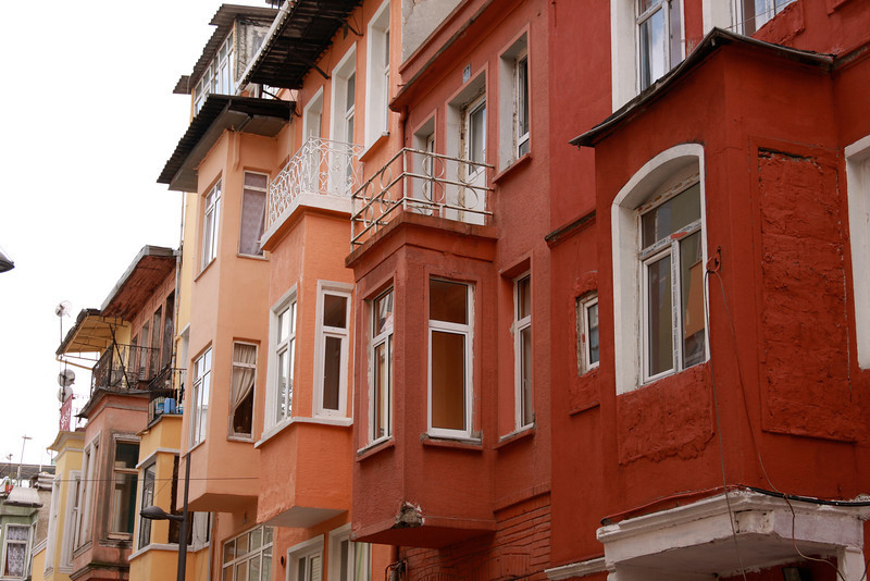 Colorful apartments in Istanbul