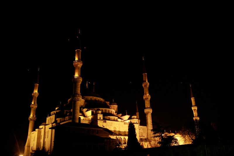 The Blue Mosque at night. Istanbul, Turkey.