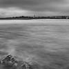 twinlakes beach high tide BW