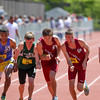 Methuen's Mike O'Donnell battled Lowell's Mike Kalenoski and Patrick Coppinger for the 1 mile win (4:16.09) ad the MIAA D1 Championships.