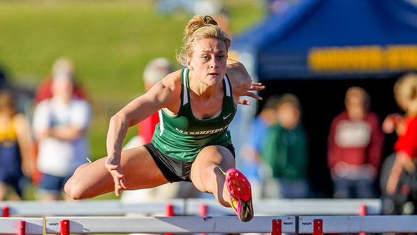 Kelsey Sullivan of Marshfield won the Weston Twilight Invitation 100m hurdles in 15.69