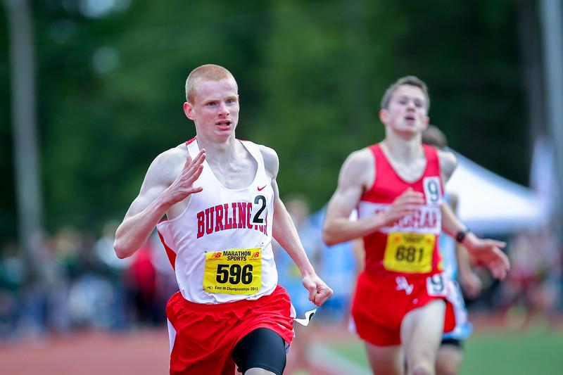 Burlington's Paul Hogan clocked 4:21.93 to take the 1 mile run at the MIAA D3 Championships.