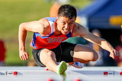 Newton South's Jung Park won the Weston Twilight Invitational 110m Hurdles in 14.64
