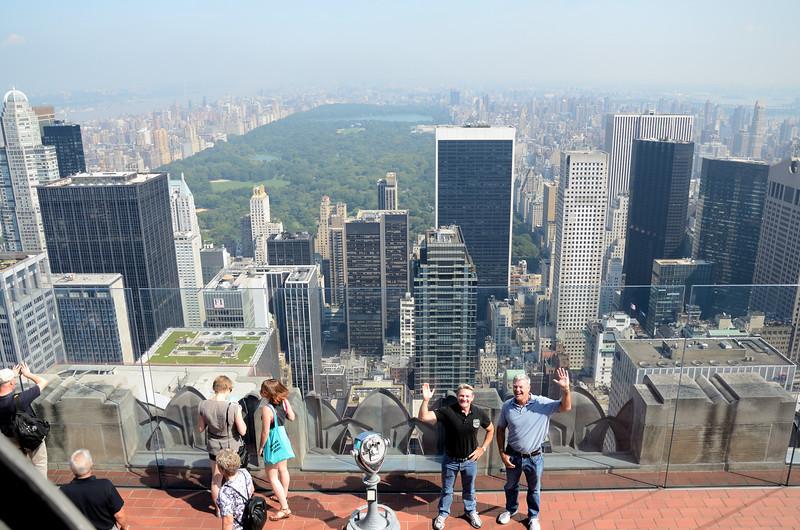 New York from Top of the Rock, Rock Rockefeller Center New York.