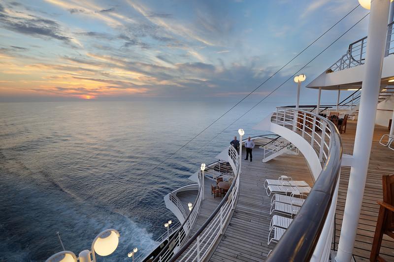Crystal Symphony at sea near Miami Florida