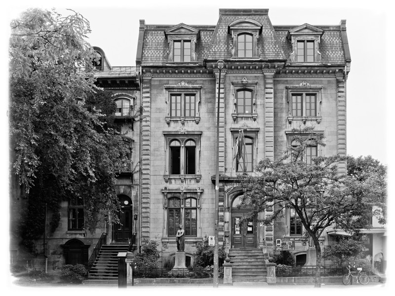 French Union of Montreal. 429 Viger Street East, Montreal.<br /> And bronze statue of Marianne.