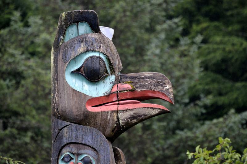 Raven Stealing the Sun Totem Pole. Ketchikan, Alaska.