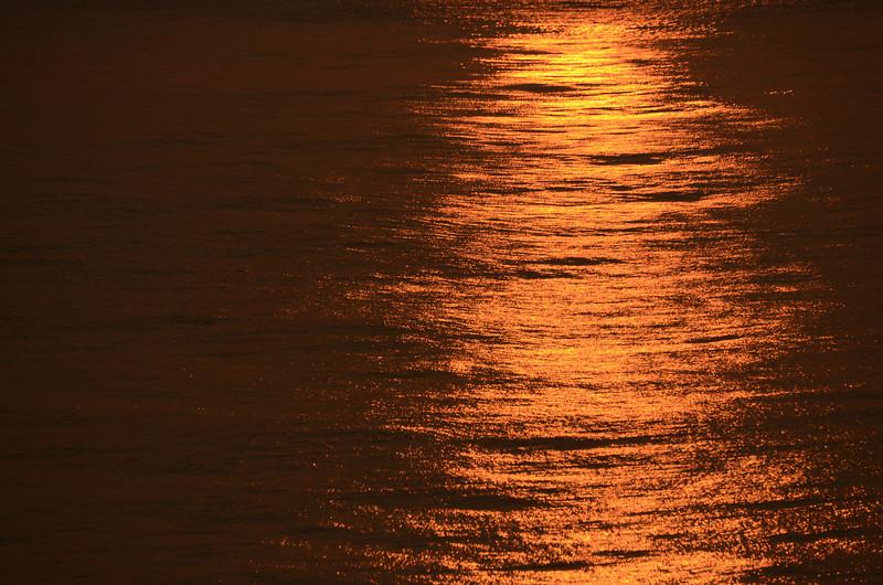 Atlantic sunset on the ocean.