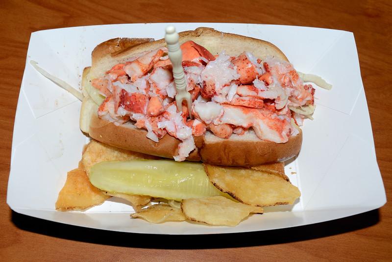 Maine Lobster Roll, Bar Harbor, Maine.