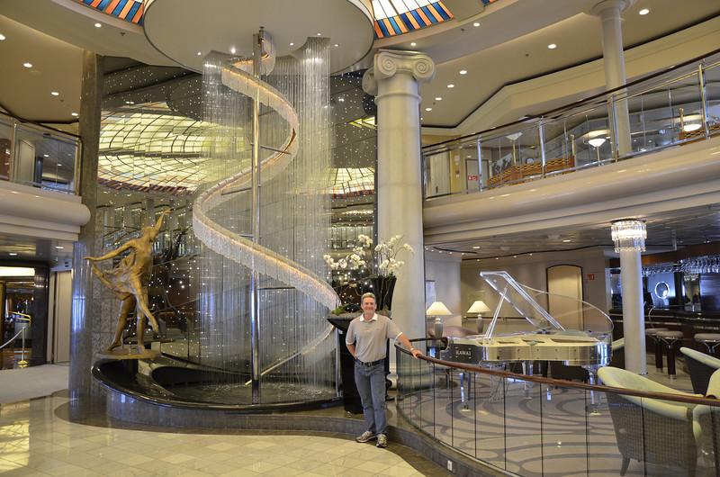 Crystal Symphony atrium.