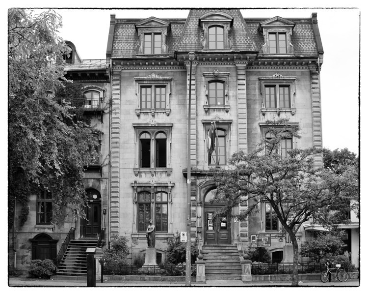 Heritage Building. French Union of Montreal. 429 Viger Street East, Montreal.