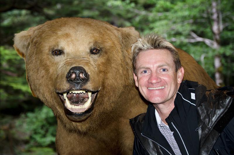 Ketchikan Alaska. Gary with a Alaska Brown Bear.