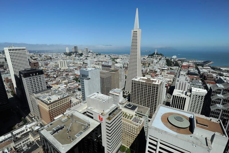 San Francisco,  California.<br /> Taken from Mandarin Oriental Hotel.