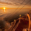 At sea sunrise