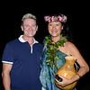 Gary with former Miss Hawaii Kanoe Miller.<br /> Halekulani Hotel, Waikiki.