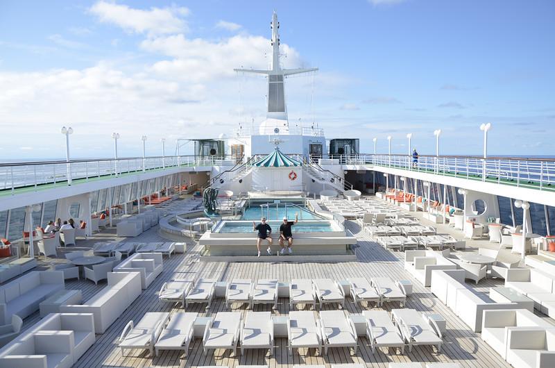 Crystal Symphony at sea.