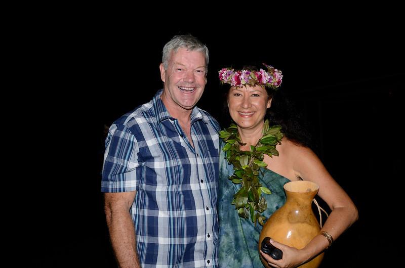 Peter with former Miss Hawaii Kanoe Miller.<br /> Halekulani Hotel, Waikiki.