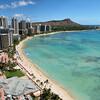 Sheraton view Waikiki. Panorama.