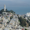 Coit Tower with Crystal Symphony, San Francisco, California.<br /> Taken from Mandarin Oriental Hotel.