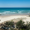 Whites Beach panorama, Beautiful secluded beach located at Broken Head just south of Byron Bay.