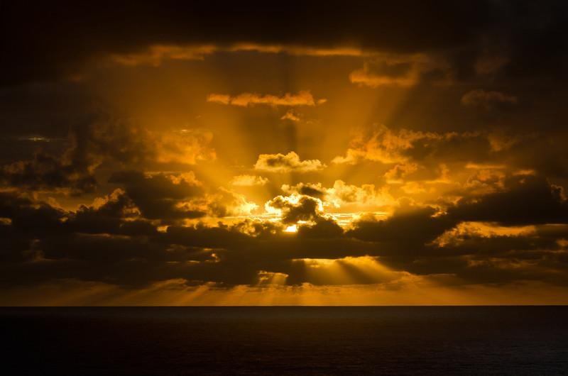 Sun rays, Main Beach, Queensland.
