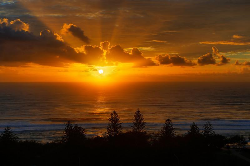 Main Beach sunrise, HDR.