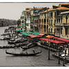 Venice, Italy. Sepia and Color.