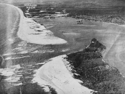 Aerial view of Southport on the Gold Coast 1937