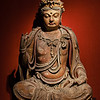 Bodhisattva, Gold painted wood. Jin, A.D. 1115-1234. Shanghai Museum, China.