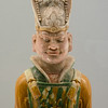 Polychrome Glazed Pottery Figurine of Civil Official, Tang, A.D. 618—907, Shanghai Museum, China.