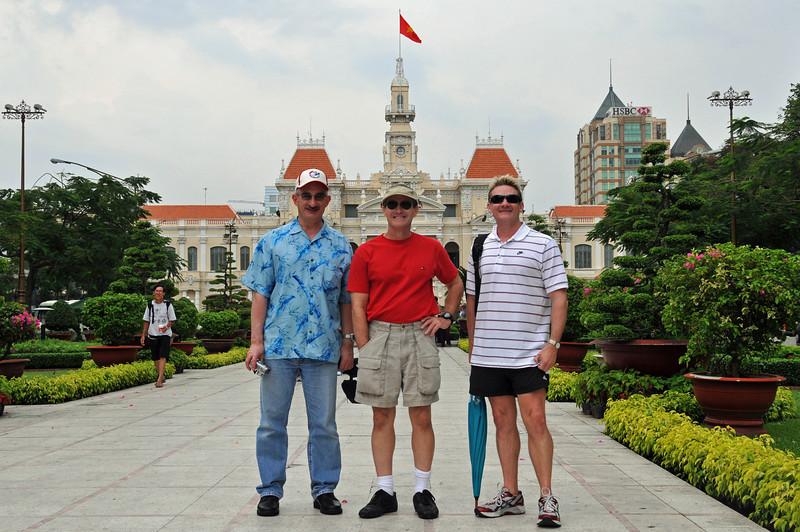 Jim, Rob and Gary<br /> Ho Chi Minh City. 17th April 2008.