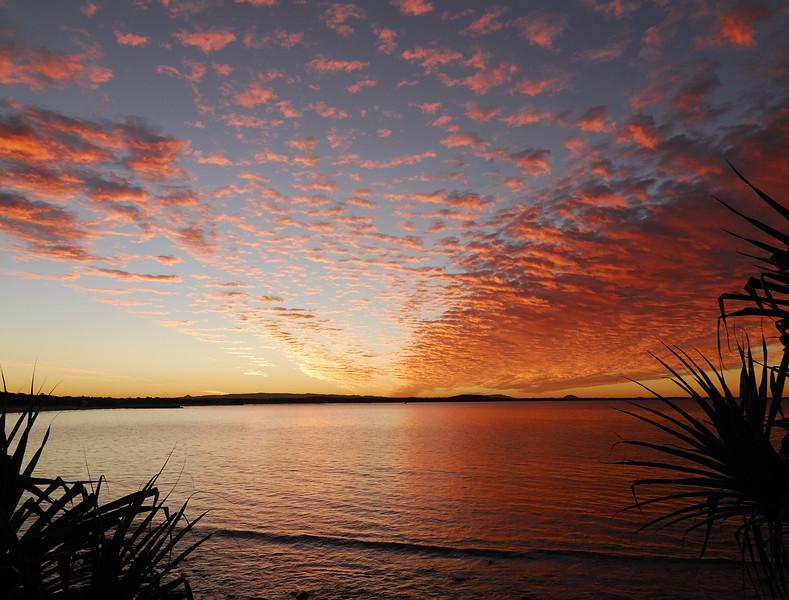 Laguna Bay sunset, Noosa National Park, Queensland.