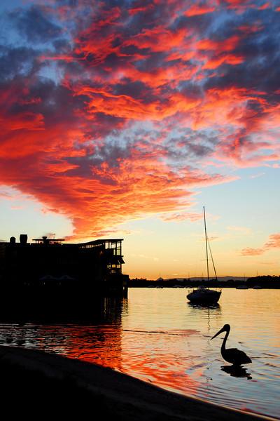 Noosa river, Noosaville, Sunshine Coast, Queensland.