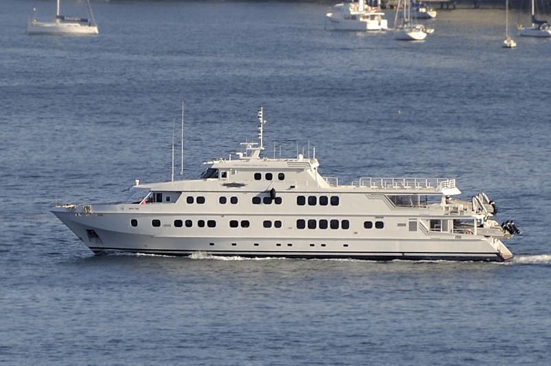 Sydney, Australia.<br /> A 50 metre luxury cruiser
