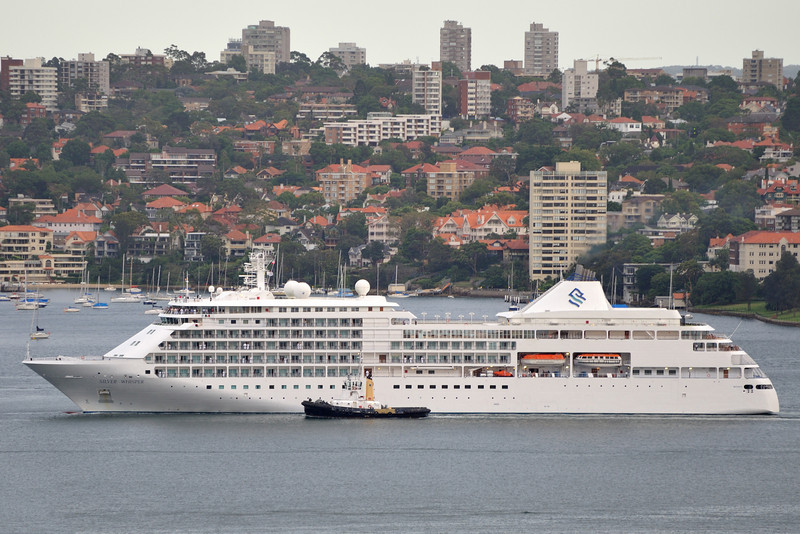 Silver Seas Line, Launched in 2001,Tonnage, 28,258. Sydney, Australia.