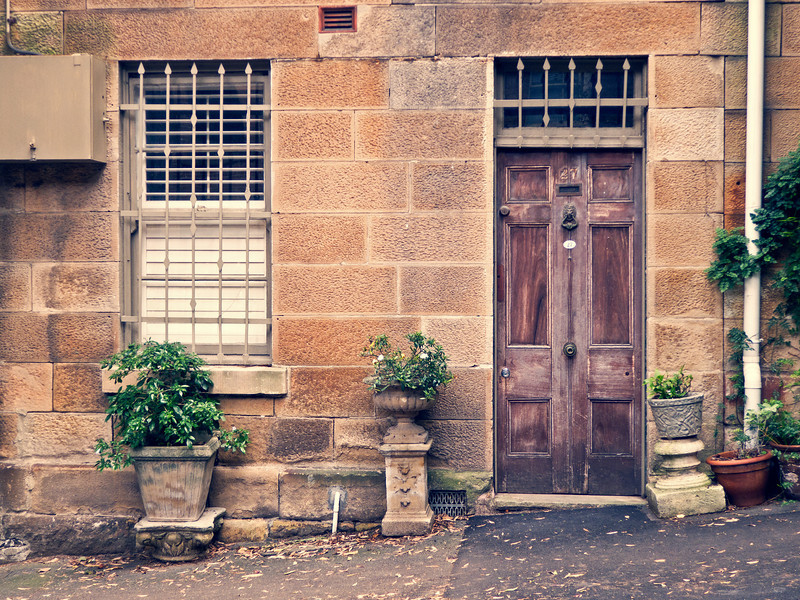 Old sandstone terrace. Darlinghurst, Sydney.