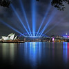 Sydney Harbour Bridge lightshow 2004
