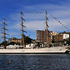ARA LIBERTAD is a tall ship which serves as a school ship in the Argentine Navy. She was built in the 1950s at the Rio Santiago shipyards near Buenos Aires, Argentina. Her maiden voyage was in 1962, and she continues to be a school ship with yearly instruction voyages for the graduating naval cadets.