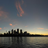 Sydney sunset panorama