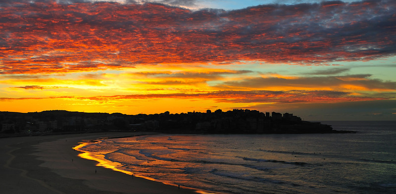 Bondi Beach Sunrise, 7th July 2008, Sydney, Australia.