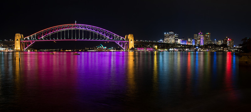 Vivid Sydney 2013 panorama